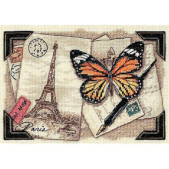 Gold Petite Travel Memories Counted Cross Stitch Kit-7