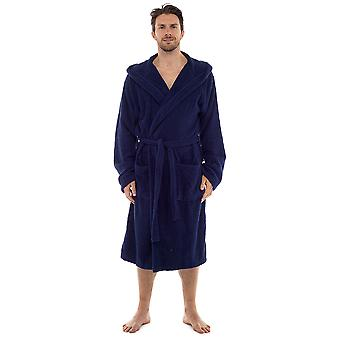 Tom Franks Mens Supersoft Cotton Towelling Hooded Bathrobe