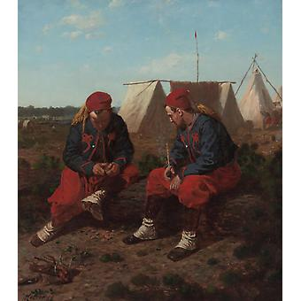 The Briarwood Pipe,Winslow Homer,43x37.6cm