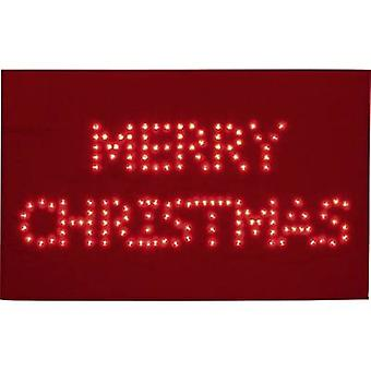LED decorative lighting Marry Christmas (doormat) Red LED Polarlite PDE-05-001 Red