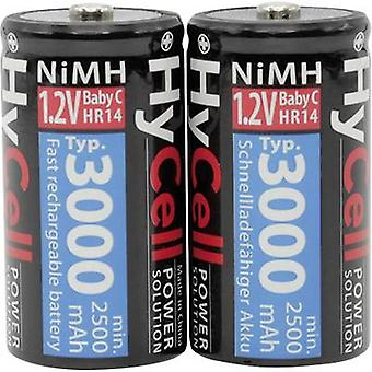 C battery (rechargeable) NiMH HyCell HR14 3000 mAh 1.2 V 2 pc(s)