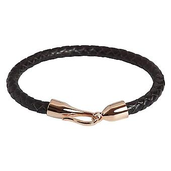 Simon Carter Hook Bracelet - Black/Rose Gold