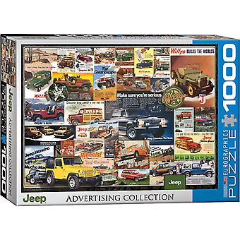 Jeep Vintage Ads 1000 Piece Jigsaw Puzzle 680Mm X 490Mm