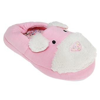 Slumberzzz Kids/Girls Dog Face Slippers