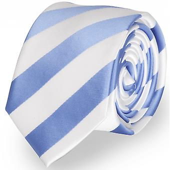 Tie tie tie tie 6cm Blue Fabio Farini white striped