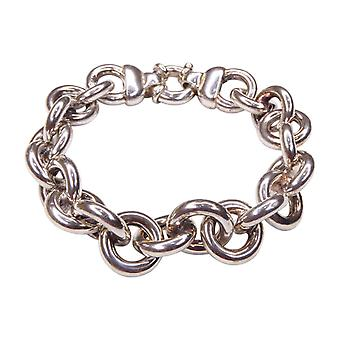 Silver bracelet with chains