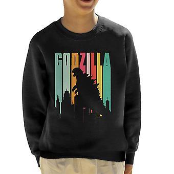 Godzilla Rainbow Stripes Kid's Sweatshirt
