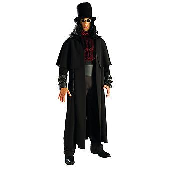 Vampire Lord coat and hat with hair dark vampire for men