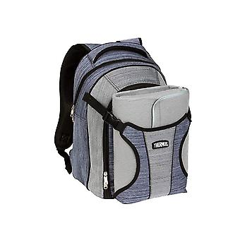 Termokande naturlige stil 4 Person Picnic rygsæk w/tæppe (blå/grå)