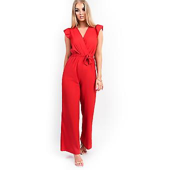 IKRUSH Womens Kerry Belted Wide Leg  Jumpsuit