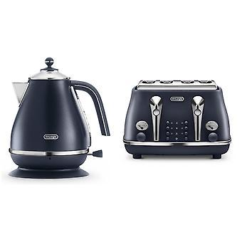 Longhi Elemente Wasserkocher Toaster Set blau