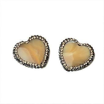 1 x creme mor af Pearl 19mm hjerte fokale perler CB36913