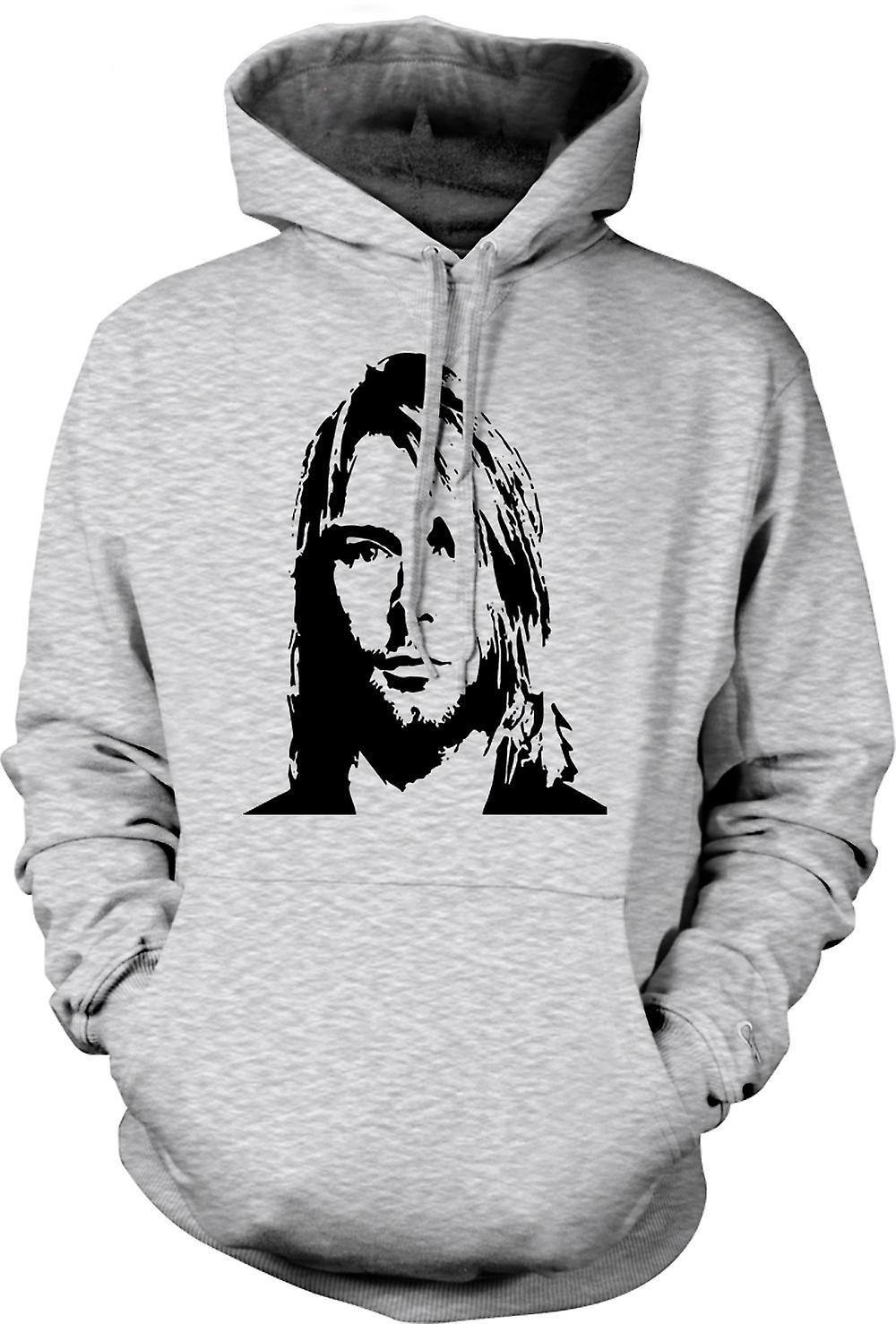 Mens hettegenser - Nirvana - Kurt Cobain - skisse