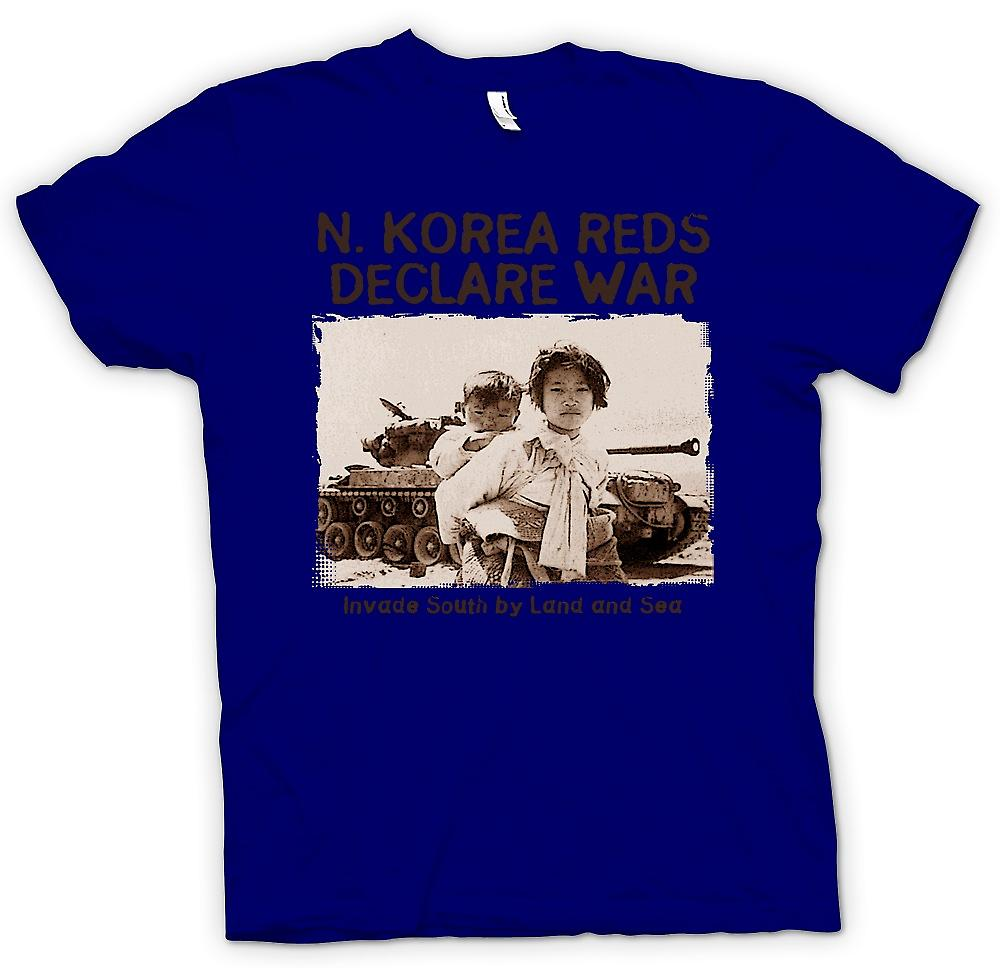 Mens T-shirt - North Korea Reds Declare War - US Military