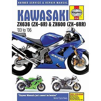 Kawasaki ZX-6R Service and Repair Manual - 2003 to 2006 by Haynes - 97