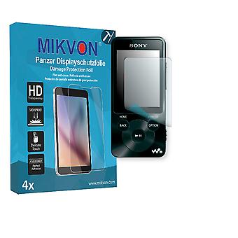 Sony NWZ-E585 Screen Protector - Mikvon Armor Screen Protector (Retail Package with accessories)