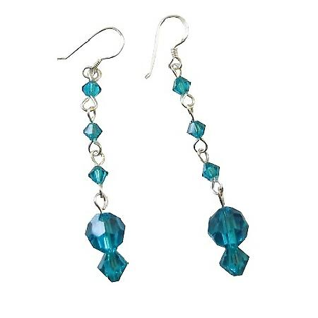 Marine Crystals Earrings Passionate Jewelry