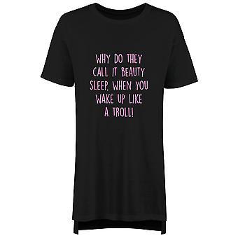 Schönheitsschlaf Troll Nachthemd