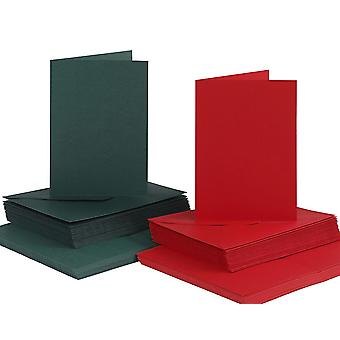 50 Red & Green A6 Cards and Envelopes - Card Making Crafts | Card Making Blanks