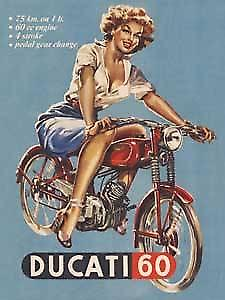 Ducati 60 metal fridge magnet  (na)