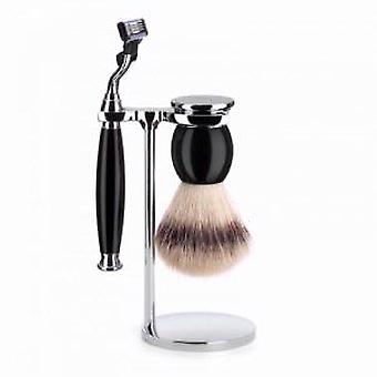 Muhle Sophist Mach3 Razor and Silvertip Brush Set