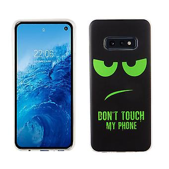 Samsung Galaxy S10e King shop cell phone case protective case cover bumper dont touch my phone Green