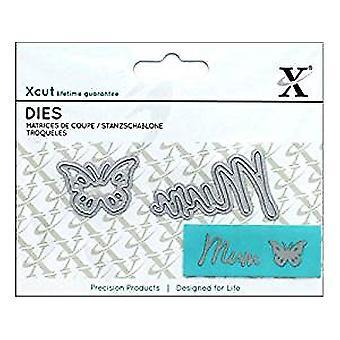 Docrafts Mini Sentiment Die (2pcs) - Mum (XCU 504099)