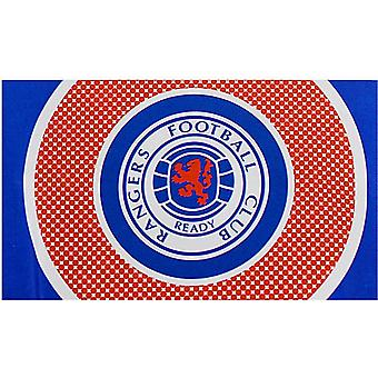 Glasgow Rangers Bullseye Design Flag (1500mm x 900mm)   (spg)