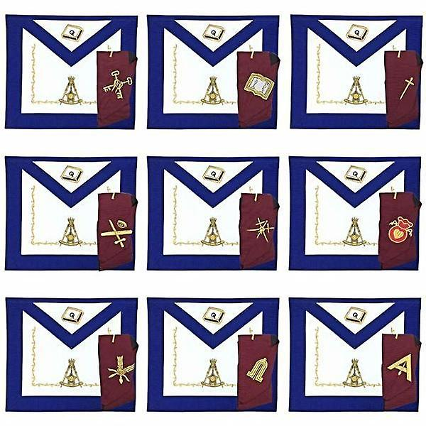 Masonic Regalia 14th Degree Officers Apron and Collar Set