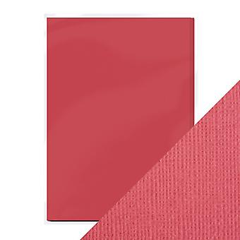 Craft Perfect A4 Weave Textured Card Raspberry Pink Tonic Studios