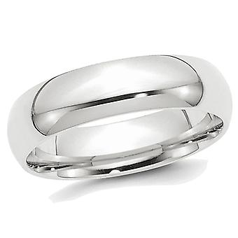 Mens Platinum Comfort Fit 8mm Lightweight Wedding Band
