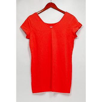 Femmes avec contrôle Petite Top MP Long et Lean Orange A263911