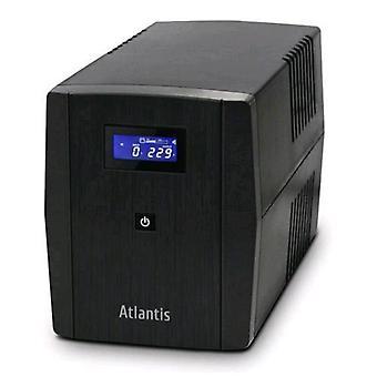Atlantis land a03-s1200 ups 700w/1,200 va 2xshucko 3xiec 320 duration half load in blackout 8min color black