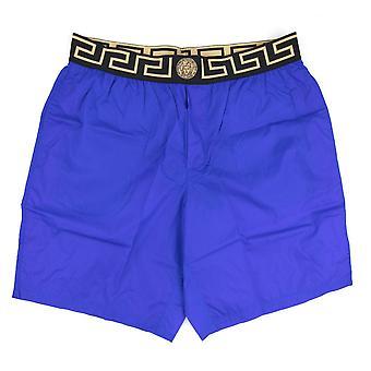 Versace Medusa Cintura Long Swim Shorts Bluette