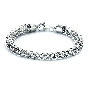 Bracelet Sterling Silver Basket braided Rope chain 6mm